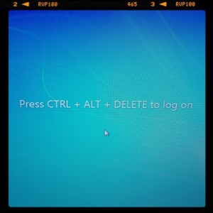 Control + Alt + Delete